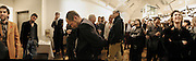 Paul Tryer, Matt Collinshaw and Jay Jopling among others listening to Tracey's speech. This is Another Place. Tracey Emin opening. Modern Art. Oxford, 9 November 2002. © Copyright Photograph by Dafydd Jones 66 Stockwell Park Rd. London SW9 0DA Tel 020 7733 0108 www.dafjones.com