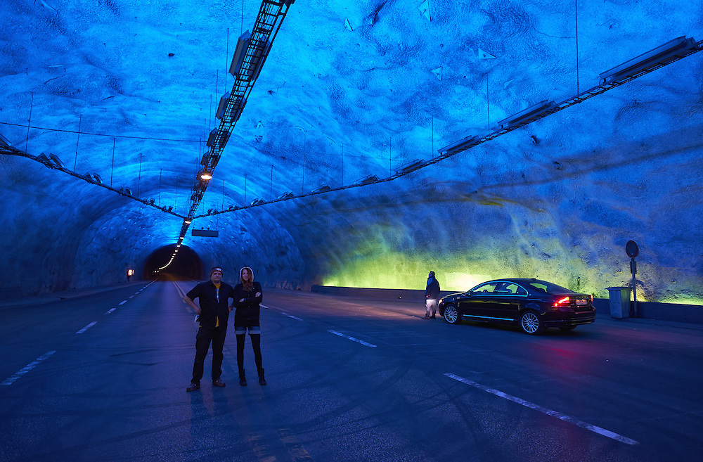 Norway - Sogn og Fjordane - Laerdal - tunnel - Lærdalstunnelen