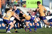 Aleki Morris of Otago runs into contact during the Ranfurly Shield match between Otago and North Otago, held at Whitestone Contracting Stadium, Oamaru, New Zealand, 26 July 2019. Credit: Joe Allison / www.Photosport.nz