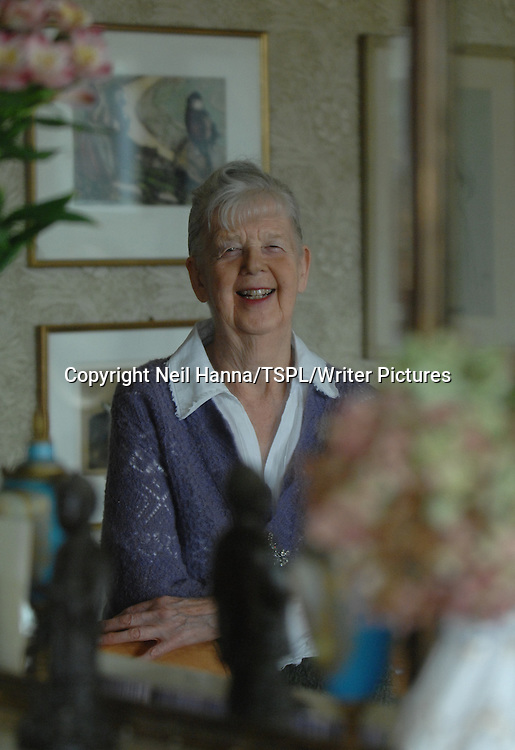 Author &amp; Illustrator Shirley Hughes  in her London home<br /> <br /> copyright Neil Hanna/TSPL/Writer Pictures<br /> contact +44 (0)20 822 41564<br /> info@writerpictures.com <br /> www.writerpictures.com