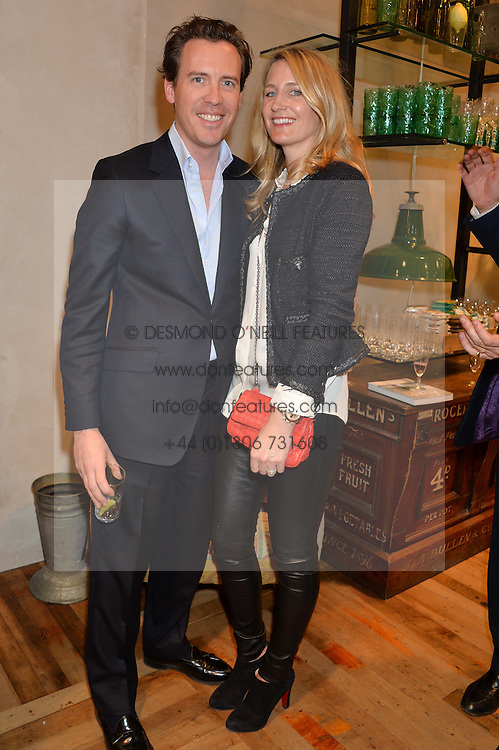 ANDREW & ARABELLA DUNN at a party to celebrate the publication of 'Inspire: The Art of Living With Nature' by Willow Crossley held at Anthropologie, 131-141 Kings Road, London on 13th March 2014.