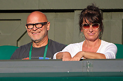 01.07.2014, All England Lawn Tennis Club, London, ENG, WTA Tour, Wimbledon, im Bild Barbora Zahlavova Strycova's father Jindrich and mother Ilona look on during the Ladies' Singles Quarter-Final match on day eight // during the Wimbledon Championships at the All England Lawn Tennis Club in London, Great Britain on 2014/07/01. EXPA Pictures © 2014, PhotoCredit: EXPA/ Propagandaphoto/ David Rawcliffe<br /> <br /> *****ATTENTION - OUT of ENG, GBR*****