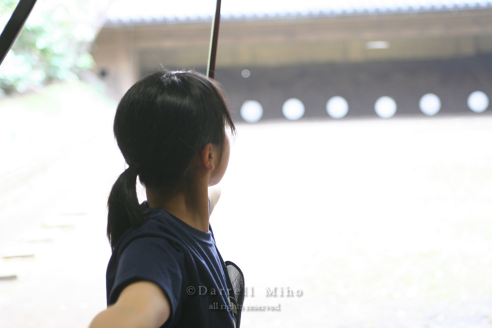 Mar 8, 2006; Tokyo, JPN; .Students in archery class at Tokyo University..Photo Credit:  Darrell Miho