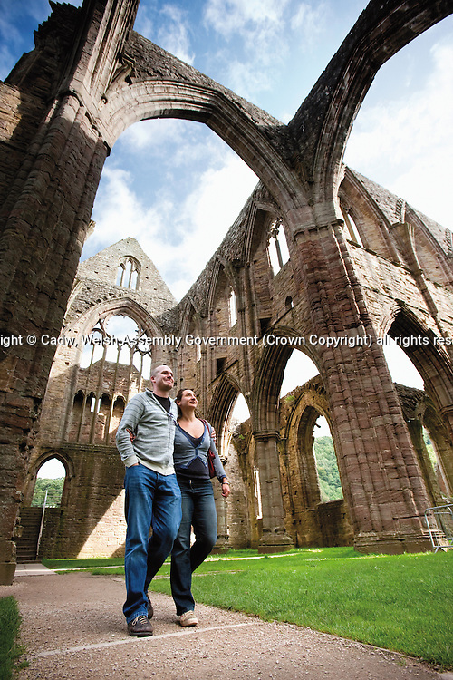 People at the Abbey<br /> Tintern Abbey <br /> Cadw Sites<br /> SAMN: MM102<br /> NGR: SO533000<br /> Monmouthshire<br /> South<br /> Abbeys<br /> Medieval<br /> Religious, Ritual and Funerary<br /> Historic Sites