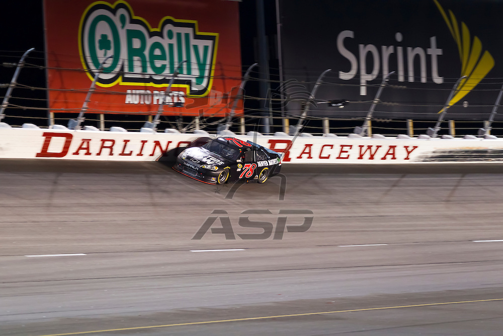 DARLINGTON, SC - MAY 12, 2012:  The NASCAR Sprint Cup teams take to the track for the Bojangles Southern 500 race at the Darlington Raceway in Darlington, SC.