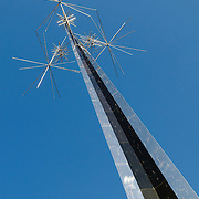 Antenna sculpture outside the main entrance to the National Air and Space Museum, part of the Smithsonian Institution
