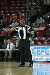 05 January 2014:  Referee Ronnie Jones during an NCAA  mens basketball game between the Salukis of Southern Illinois and the Illinois State Redbirds  in Redbird Arena, Normal IL.  Final score ISU 66, SIU 48