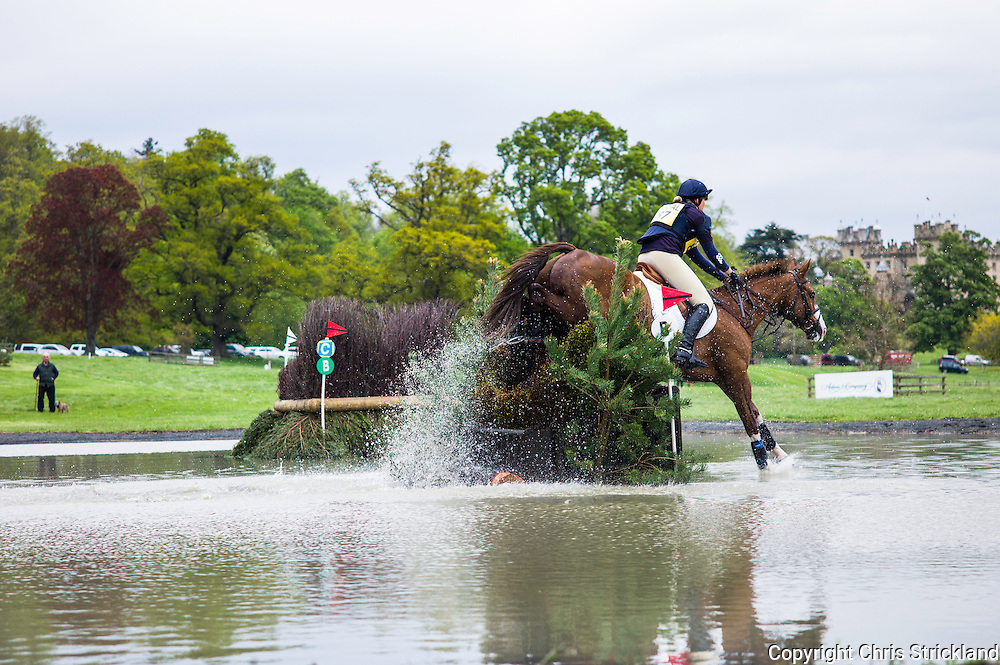 Floors Castle, Kelso, Roxburghshire, UK. 15th May 2015. Floors Castle International Horse Trials moved onto the Show Jumping and Cross Country phases on Friday.