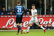 Lorenzo Pellegrini of AS Roma during the Italian championship Serie A football match between FC Internazionale and AS Roma on January 21, 2018 at Giuseppe Meazza stadium in Milan, Italy - Photo Morgese - Rossini / ProSportsImages / DPPI