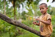 Mentawai indigenous girl (Indonesia).