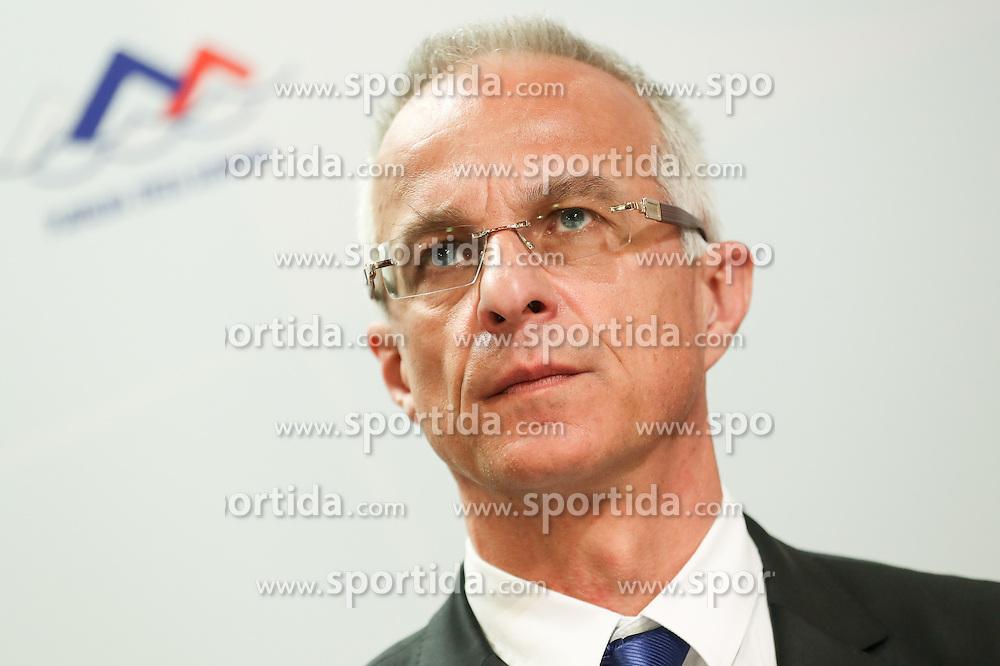 Miran Kos, president of PZS during press conference of LEN European Masters Championships 2018, on April 4, 2016 in Kranj, Slovenia. Photo by Vid Ponikvar / Sportida