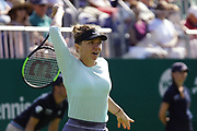 Simona Halep (ROU) Vs Polona Hercog (SLO) Action at the Nature Valley International 2019 at Devonshire Park, Eastbourne, United Kingdom on 26th June 2019.