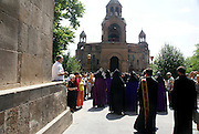 Armenia, Vagharshapat (AKA Echmiadzin) The Sunday procession lead by the Patriarch. the spiritual centre of the Armenians, as it is the seat of the Catholicos of All Armenians, the head of the Holy Armenian Apostolic Church.