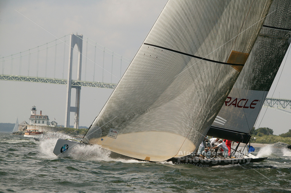 USA - Newport, RI - America's cup boats race for the UBS trophy, Newport.