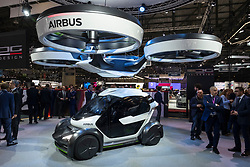 Italdesign Pop.Up concept sustainable, modular transport system at 87th Geneva International Motor Show in Geneva Switzerland 2017