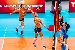 03-10-2018 NED: World Championship Volleyball Women day 5, Yokohama<br /> Argentina - Netherlands 0-3 / Nicole Koolhaas #22 of Netherlands