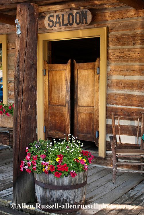 Nevada City, Montana, restored mining town, saloon