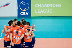 Team ACH Volley during volleyball match between ACH Volley (SLO) and Zenit Kazan (RUS) in Playoffs 12 Round of 2011 CEV Champions League, on February 2, 2011 in Arena Stozice, Ljubljana, Slovenia. (Photo By Matic Klansek Velej / Sportida.com)