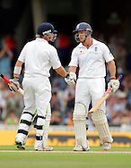 © SPORTZPICS / Seconds Left Images 2009  - Andrew Strauss (R) is congratulated by Ian Bell on reaching his half century,50,fifty -  England v Australia - The Ashes 2009 - 5th npower Test  Match - Day 1 - 20/08/09 - The Brit Oval - London -  UK - All Rights Reserved