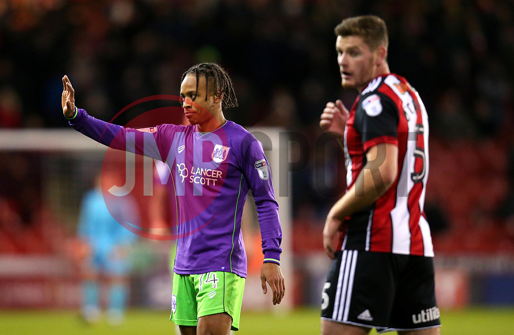 Bobby Reid of Bristol City - Mandatory by-line: Robbie Stephenson/JMP - 08/12/2017 - FOOTBALL - Bramall Lane - Sheffield, England - Sheffield United v Bristol City - Sky Bet Championship