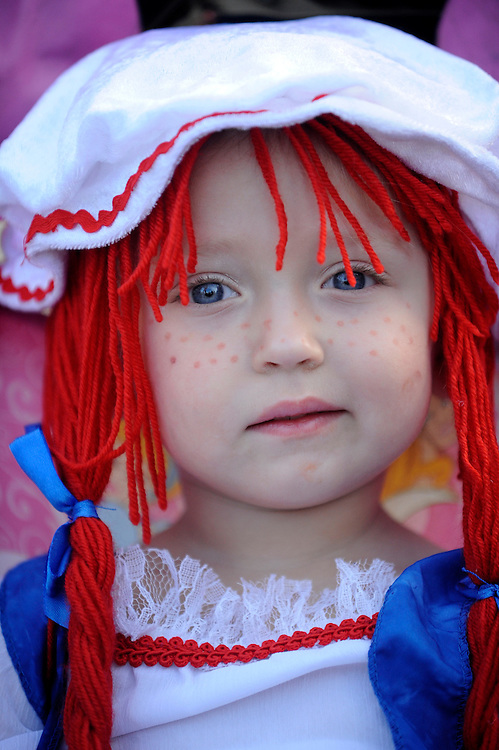 Raggedy Ann costume for Halloween.