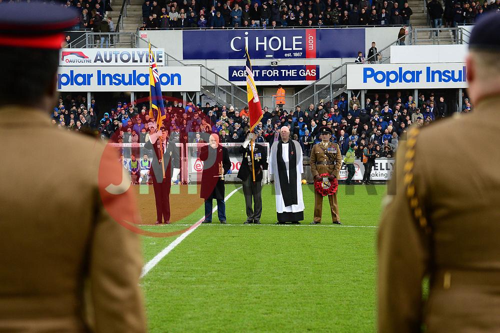 Bristol Rovers remembrance game - Mandatory by-line: Dougie Allward/JMP - 18/11/2017 - FOOTBALL - Memorial Stadium - Bristol, England - Bristol Rovers v AFC Wimbledon - Sky Bet League One