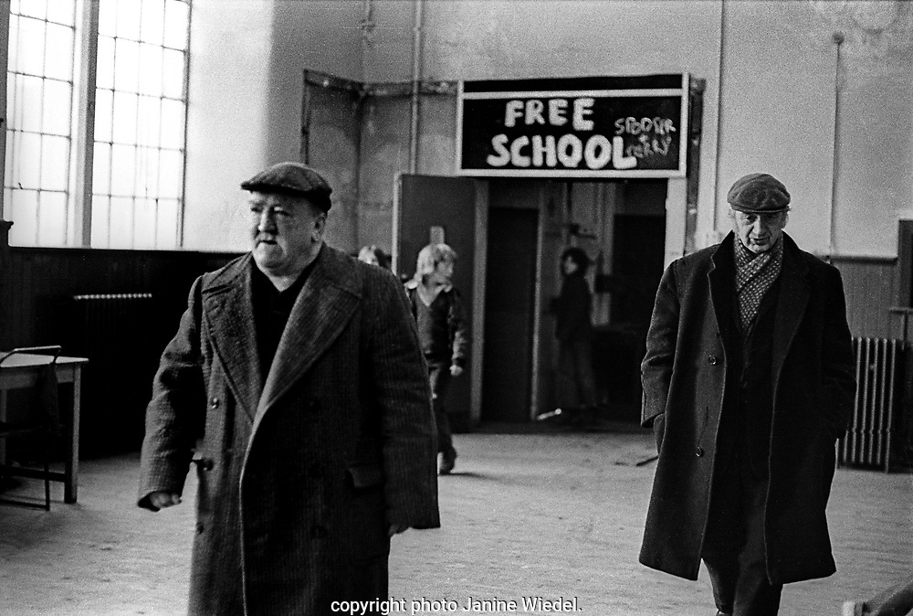 Scotland Road free school in Liverpool 1973 providing free meals for the elderly in the community