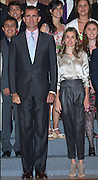 11.JULY.2011. MADRID<br /> <br /> PRINCE FELIPE AND LETIZIA ATTEND AUDIENCES AT ZARZUELA PALACE IN MADRID, SPAIN<br /> <br /> BYLINE: EDBIMAGEARCHIVE.COM<br /> <br /> *THIS IMAGE IS STRICTLY FOR UK NEWSPAPERS AND MAGAZINES ONLY*<br /> *FOR WORLD WIDE SALES AND WEB USE PLEASE CONTACT EDBIMAGEARCHIVE - 0208 954 5968*