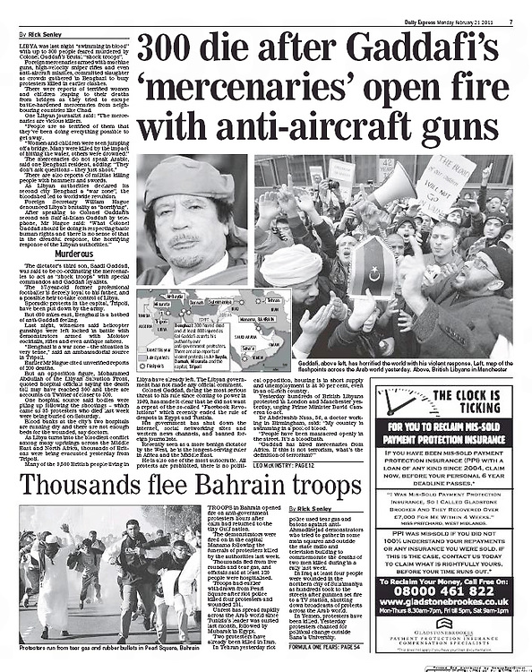 The Daily Express, 21/02/2011