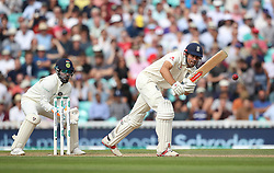 England's Alastair Cook during the test match at The Kia Oval, London.