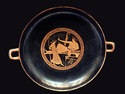 Athenian drinking party (symposium) 490-480 BC Greek red-figured cup or Kylix