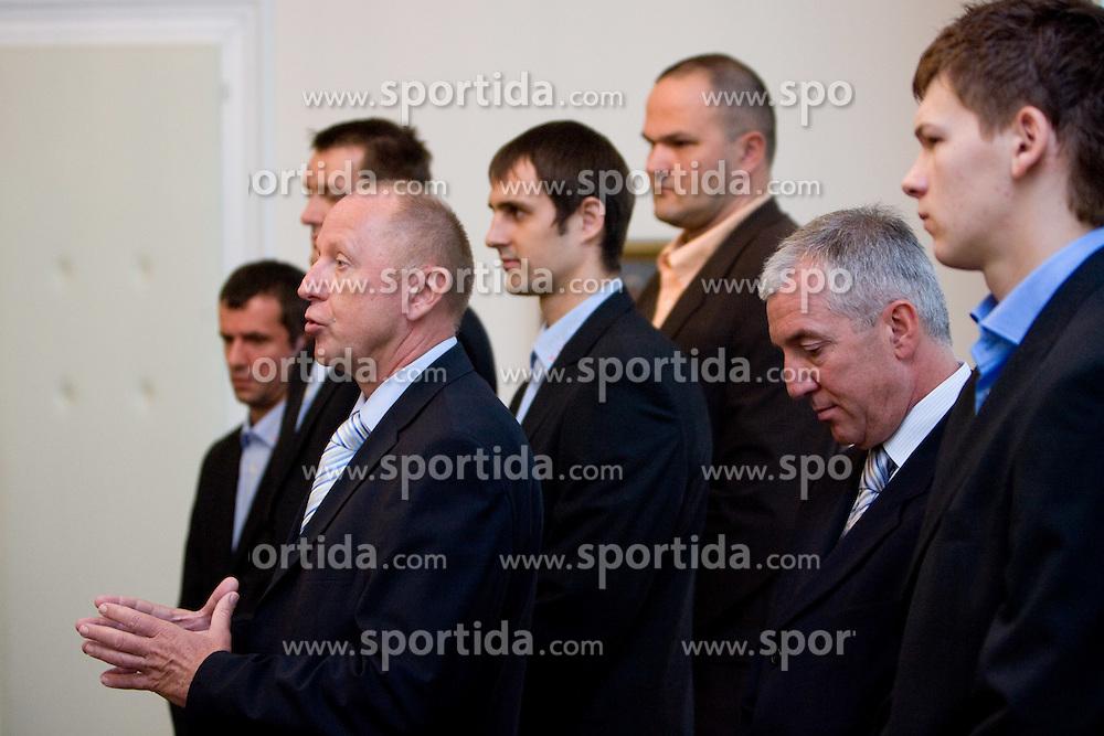 Dusan Sesok of Slovenian basketball national team after Eurobasket 2009 at reception at president of Slovenia dr. Danilo Türk,  on September 28, 2009, in Presernova 8, Ljubljana, Slovenia.  (Photo by Vid Ponikvar / Sportida)