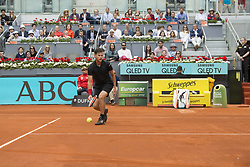 May 12, 2018 - Madrid, Madrid, Spain - DOMINIC THIEM misses the ball in a match against KEVIN ANDERSON during the semi finals of Mutua Madrid Open 2018 - ATP in Madrid. DOMINIC THIEM won the match 6-4 6-2. (Credit Image: © Patricia Rodrigues via ZUMA Wire)
