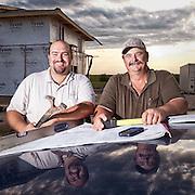 Eric Pesak and Steven Kieschnick, custom homebuilders, with KP&S Construction