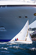Argument, Herreshoff S Class, sailing in the Museum of Yachting Classic Yacht Regatta.
