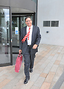 13.AUGUST.2011. LIVERPOOL<br /> <br /> LIVERPOOL FC MANAGER TOM WERNER LEAVES THE HILTON HOTEL TO HEAD TO ANFIELD FOR LIVERPOOL FC'S FIRST GAME OF THE SEASON<br /> <br /> BYLINE: EDBIMAGEARCHIVE.COM<br /> <br /> *THIS IMAGE IS STRICTLY FOR UK NEWSPAPERS AND MAGAZINES ONLY*<br /> *FOR WORLD WIDE SALES AND WEB USE PLEASE CONTACT EDBIMAGEARCHIVE - 0208 954 5968*