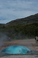 Strokkur, a geyser in the Haukadalur geothermal area beside the Hvítá River in southwest Iceland. Image taken with a Nikon D4 and 80-400 mm VRII lens (ISO 100, 80 mm, f/11, 1/320 sec). Nikonians Photo Adventure Tour in Iceland with Mike Hagen and Tim Vollmer