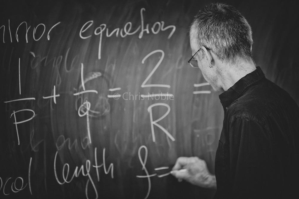 Alpinist and physics professor Raphael Slawinski teaching at Calgary's Mount Royal University
