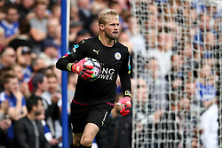 Kasper Schmeichel of Leicester City keeps Leicester City in the match as he makes a superb one arm save - Mandatory by-line: Jason Brown/JMP - 15/10/2016 - FOOTBALL - Stamford Bridge - London, England - Chelsea v Leicester City - Premier League