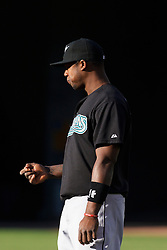 June 29, 2011; Oakland, CA, USA; Florida Marlins shortstop Hanley Ramirez (2) warms up in the outfield before the game against the Oakland Athletics at the O.co Coliseum.  Florida defeated Oakland 3-0.