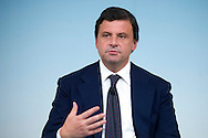 Rome may 10th 2016, cabinet meeting press conference. In the picture Carlo Calenda, new minister of economic development
