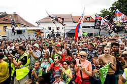 Supporters during trophy ceremony after the 5th Stage of 26th Tour of Slovenia 2019 cycling race between Trebnje and Novo mesto (167,5 km), on June 23, 2019 in Slovenia. Photo by Vid Ponikvar / Sportida