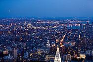 New York. elevated view on Manhattan east and east river bridges  New york - United states / vue elevee sur l'est de Manhattan, les ponts sur l east river  New york - Etats unis