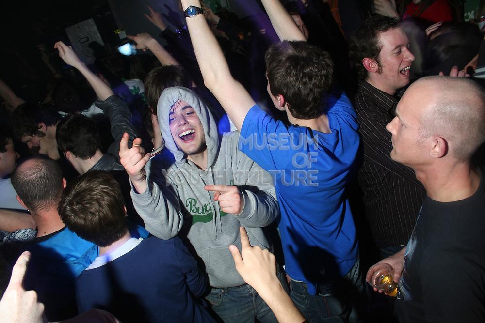 Crowd of dancing people, Masonic Place, Nottingham.