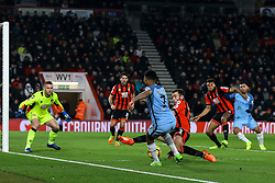 Raheem Sterling of Manchester City passes back to Sergio Aguero of Manchester City, setting up Manchester City second goal - Mandatory by-line: Jason Brown/JMP - 13/02/2017 - FOOTBALL - Vitality Stadium - Bournemouth, England - Bournemouth v Manchester City - Premier League