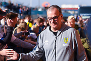Marcelo Bielsa of Leeds United (Manager) arrives at the ground before the EFL Sky Bet Championship match between Leeds United and Bolton Wanderers at Elland Road, Leeds, England on 23 February 2019.