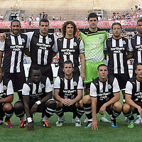 The team photo of Newcastle during an International Friendly soccer match between English Premier League team Newcastle United and the Orlando City Lions of the United Soccer League, at the Florida Citrus Bowl on Saturday, July 23, 2011 in Orlando, Florida. Orlando won the match 1-0. (AP Photo/Alex Menendez)