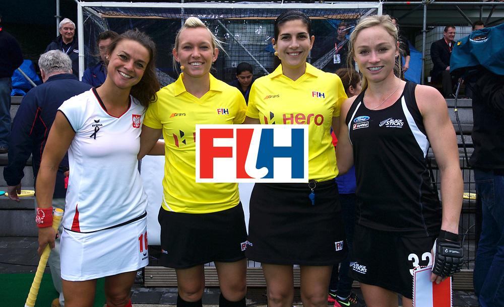 ANTWERP - Hockey World League Semi Final Women<br /> 01 NZL v POL (Pool B)<br /> foto: Captains and Umpires.<br /> FFU PRESS AGENCY COPYRIGHT FRANK UIJLENBROEK