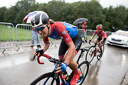 Janneke Ensing (NED) of WNT Rotor Pro Cycling climbs on the final ascent of Stage 4 of 2019 OVO Women's Tour, a 158.9 km road race from Warwick to Burton Dassett, United Kingdom on June 13, 2019. Photo by Balint Hamvas/velofocus.com