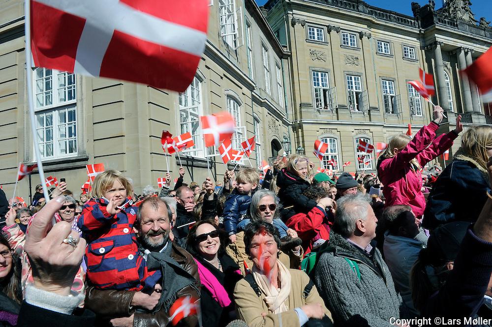 DK:<br /> 20100416, K&oslash;benhavn, Danmark.<br /> Dronning Margrethe fejres p&aring; sin 70 &aring;rs f&oslash;dselsdag<br /> Foto: Lars M&oslash;ller<br /> UK: <br /> 20100416, Copenhagen, Danmark.<br /> Queen Margrethe of Denmark is being celebrated at Amalienborg Castle on her 70th birthday:<br /> Photo: Lars Moeller